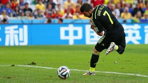 David Villa en su último partido/Agencia