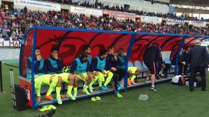 El banquillo del F.C.Barcelona. Foto: Agencias