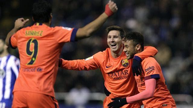 Luis Súarez, Messi y Neymar. Foto: Agencia