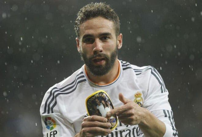 Carvajal celebrando un gol con el Real Madrid / Agencias