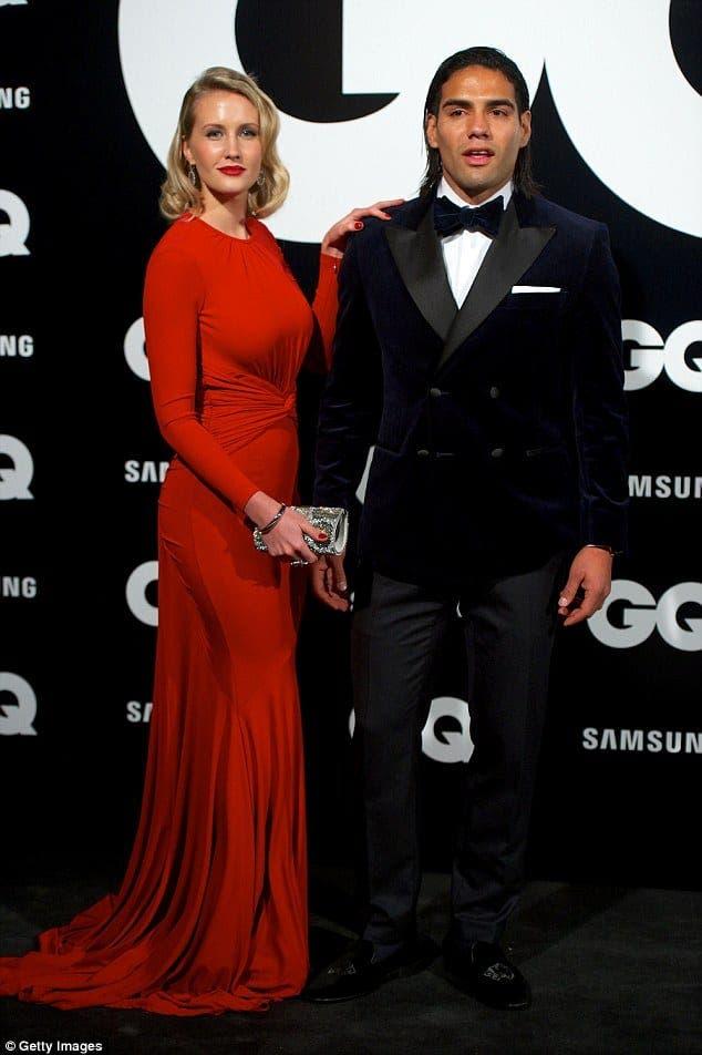 Radamel Falcao con su bella mujer. Foto: Agencias.