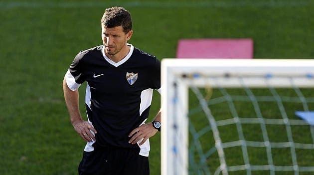 Javi Gracia entrenador del Málaga a conseguido puntuar en los encuentros contra el Barça. Foto: Agencias
