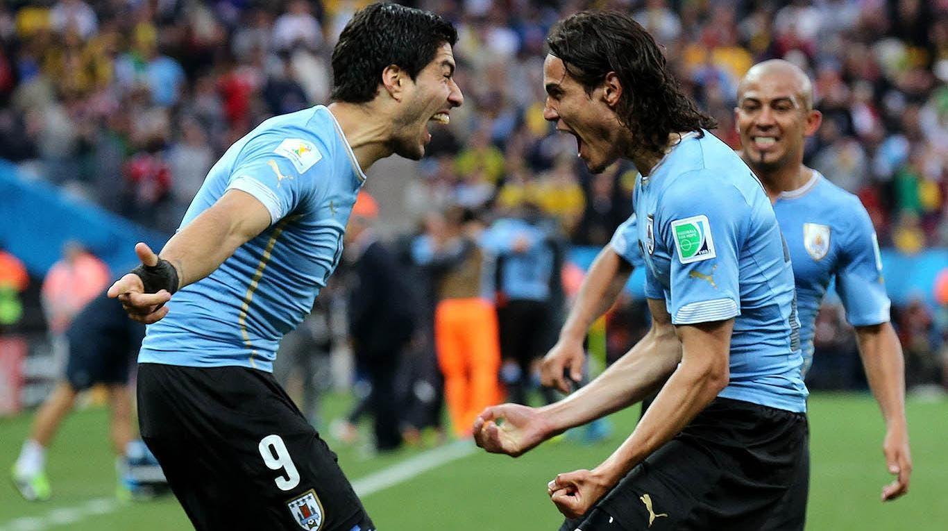 Cavani y Suárez