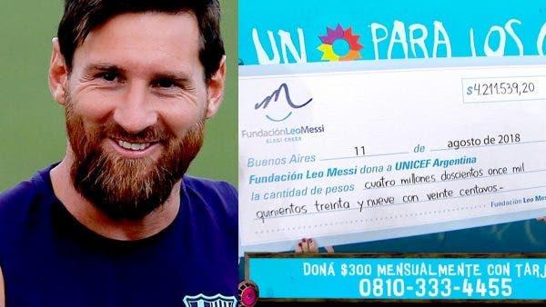 Messi donación
