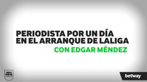 Periodistas por un día con el jugador del Alavés Edgar Méndez