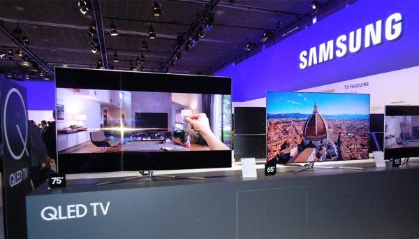 última línea de televisores de Samsung