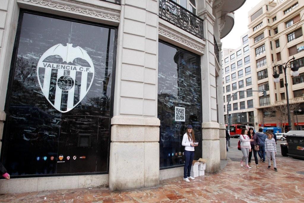 La nueva tienda del Valencia CF