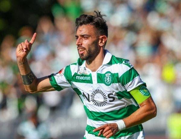 Bruno Fernandes actual jugador del Sporting de Lisboa