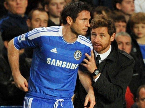 Andre Villas Boas con Frank Lampard en el Chelsea. Foto: Agencias.