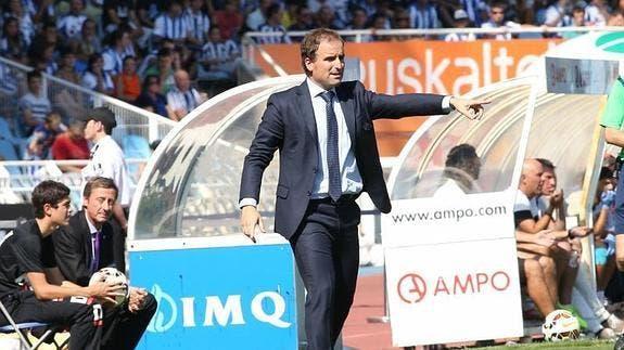 Arrasate en la derrota 1-2 frente a la UD Almería. Foto: Agencias.