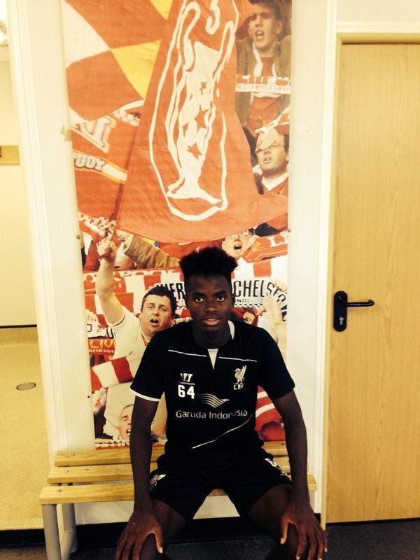 Madger a su llegada a Anfield