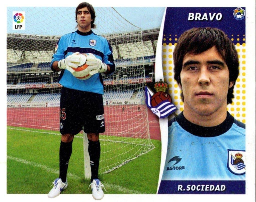 Claudio Bravo hace 8 años en su primera temporada con la Real Sociedad.