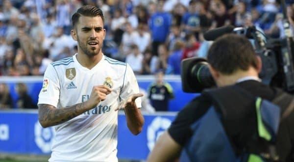 Dani Ceballos con el Madrid