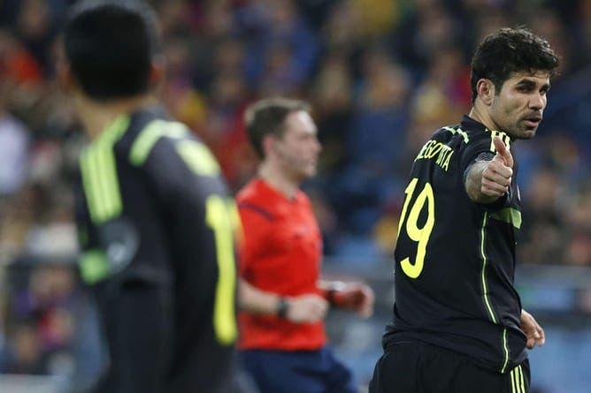 Diego Costa en su debut con España frente a Italia. Foto: Agencias.