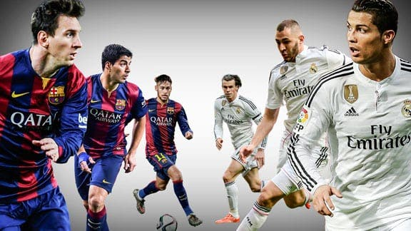 Messi, Suárez, Neymar, Bale, Benzema y Cristiano Ronaldo. Foto: Agencias
