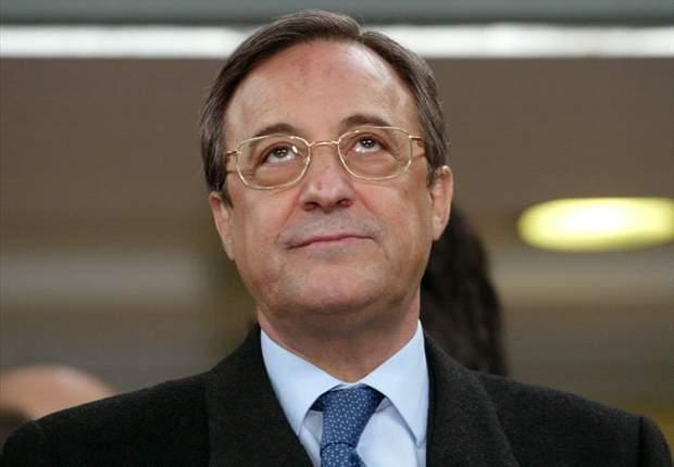 Florentino en el palco del Bernabéu / Agencias