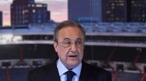 Florentino Pérez en conferencia de prensa
