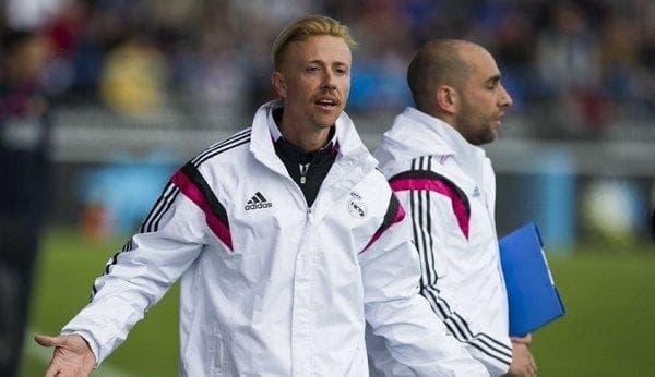 Guti como entrenador del Real Madrid