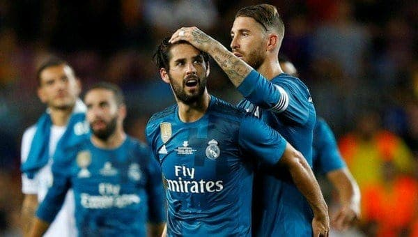 Isco y Ramos Real Madrid