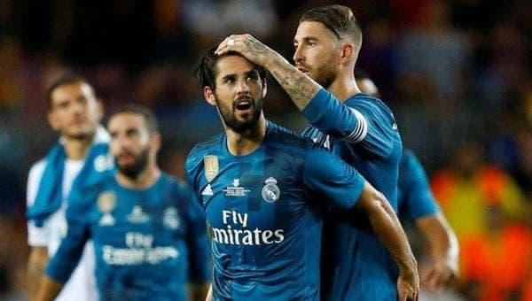 Isco y Ramos Real Madrid