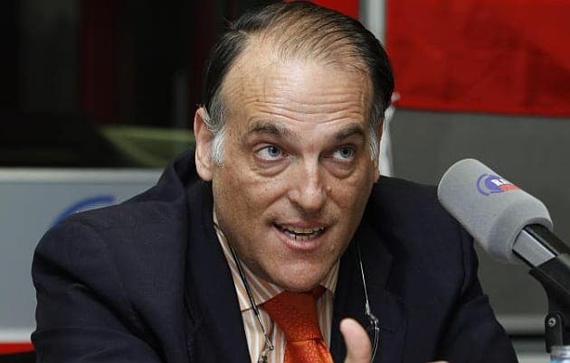 Tebas vuelve a cargar contra el Levante UD y Real Zaragoza