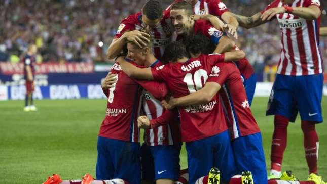 Los jugadores del Atlético de Madrid celebrando un gol / Agencias