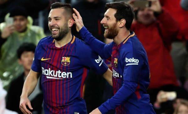 Lionel Messi y Jordi Alba