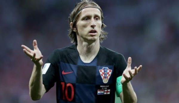 Luka Modric con Croacia
