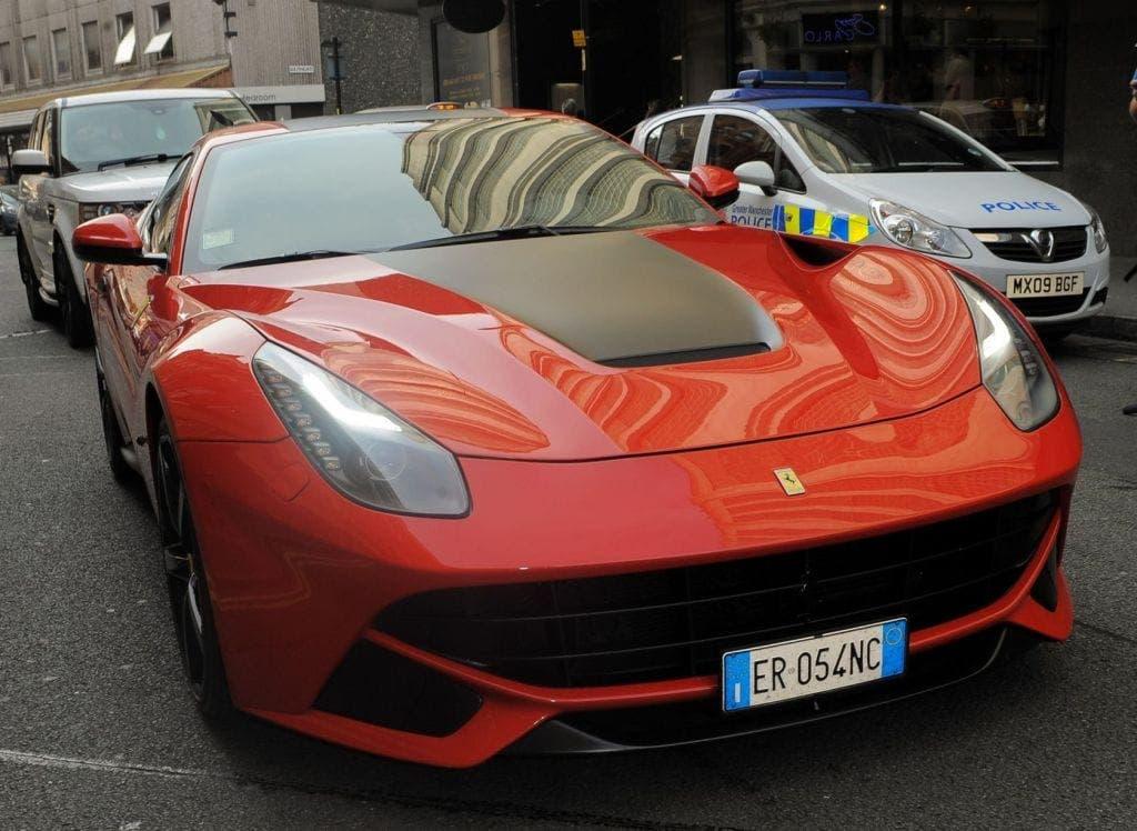 Ferrari de Mario Balotelli. Foto: Agencias.