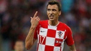 Mario Mandzukic con la selección de Croacia