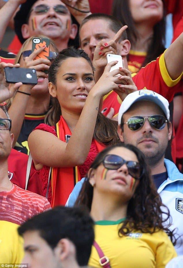 Marta Dominguez  es la mujer de Thibaut Courtois. Foto: Agencias.