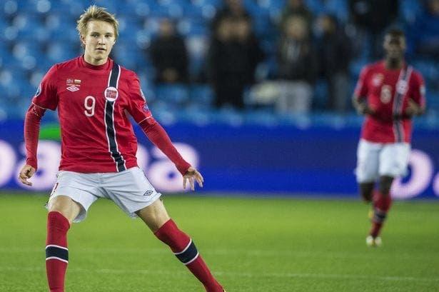 Martin Ødegaard en un partido con Noruega / Agencias