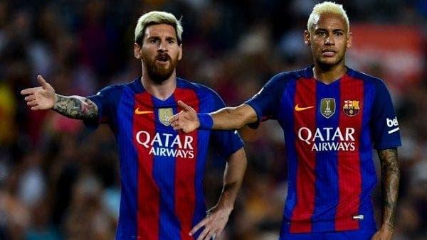 Messi y Neymar en el Barca