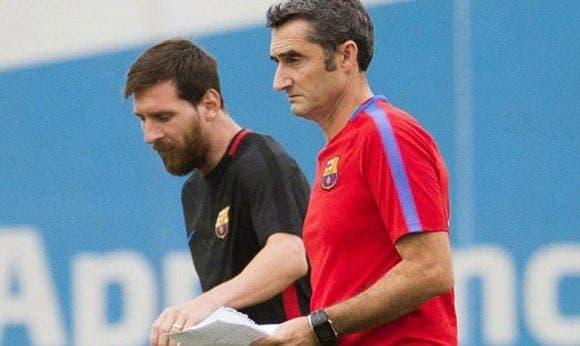 Messi y Valverde