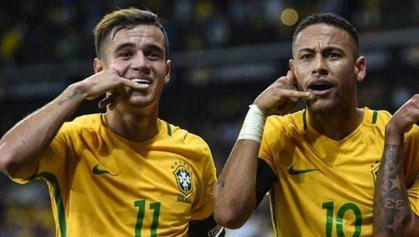 Neymar y Coutinho