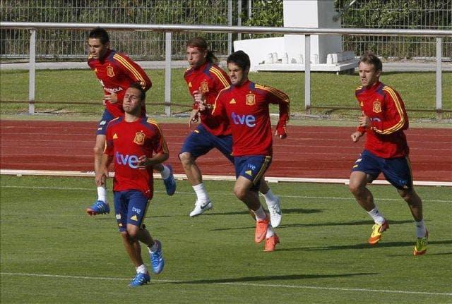 Entrenamiento de la Selección española / Agencias