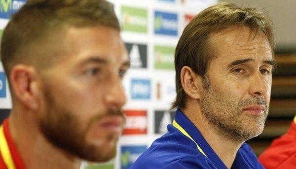 Sergio Ramos y Lopetegui