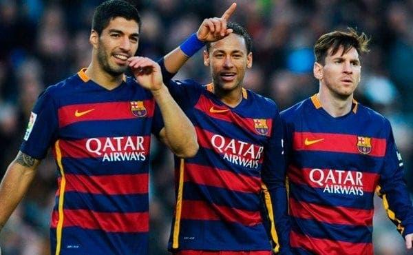 Suarez Neymar y Messi
