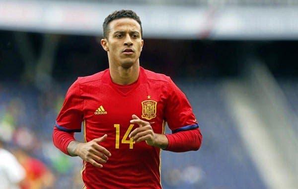 Thiago Alcántara con España