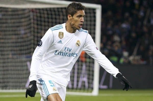 Varane con el Madrid
