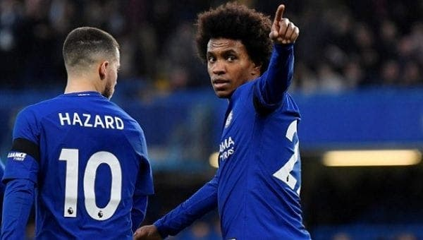 Willian con el Chelsea FC