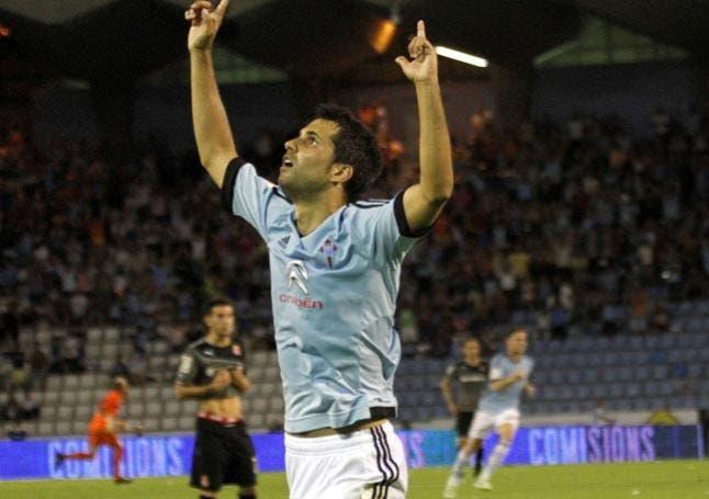 Álex López celebrando un gol con el Celta / Agencias
