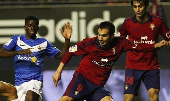 Javi Gracia puede volver a contar con Armenteros después de haber recibido hoy el alta médica. Foto: EFE