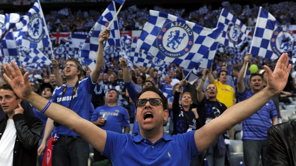 Chelsea supporters cheer before the star