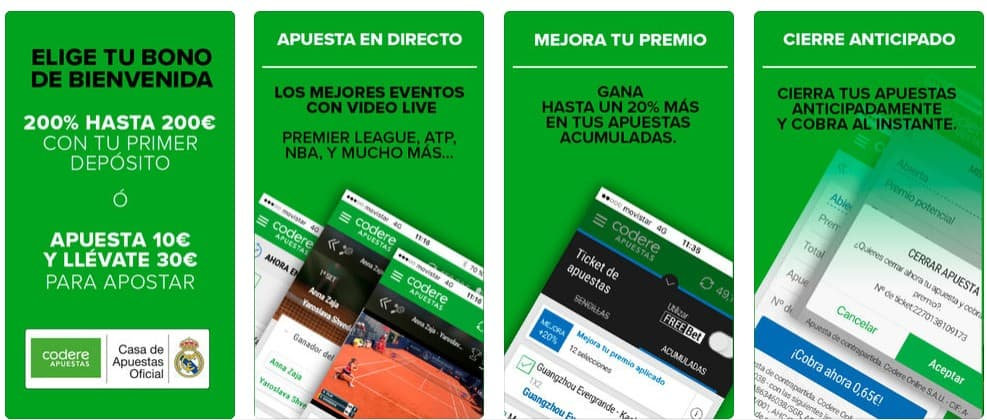 codere app screenshots