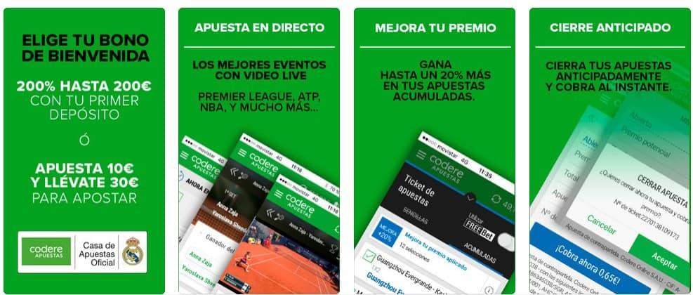 codere app screenshots