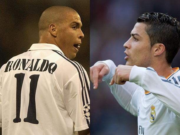 Los dos Ronaldos. Foto: Agencias.
