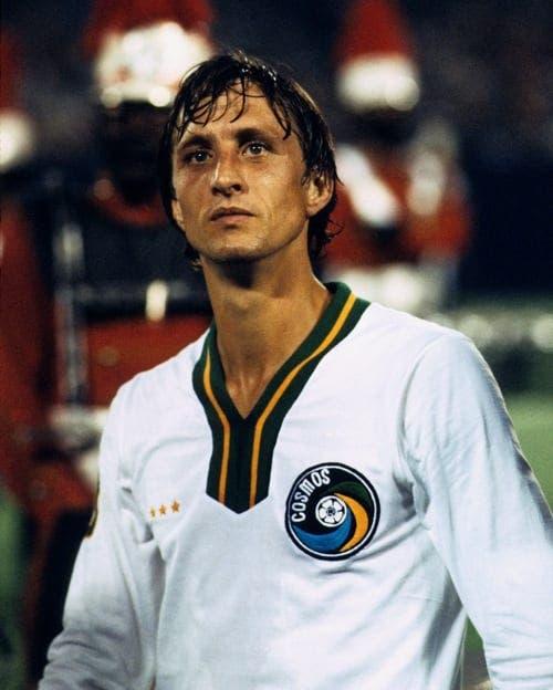 Cruyff jugó en el New York Cosmos.