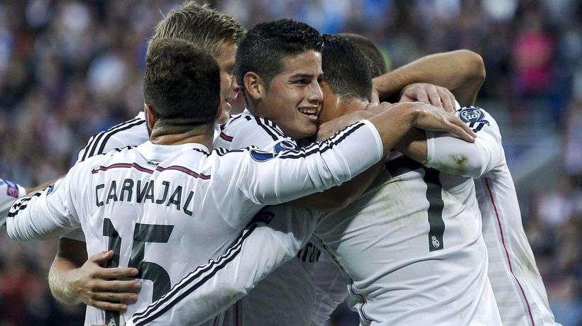 La plantilla del Real Madrid celebrando un gol / Agencias
