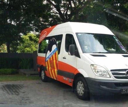 La furgoneta del Valencia CF
